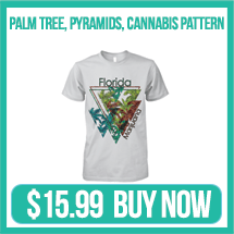 cannabis pyramid t shirt